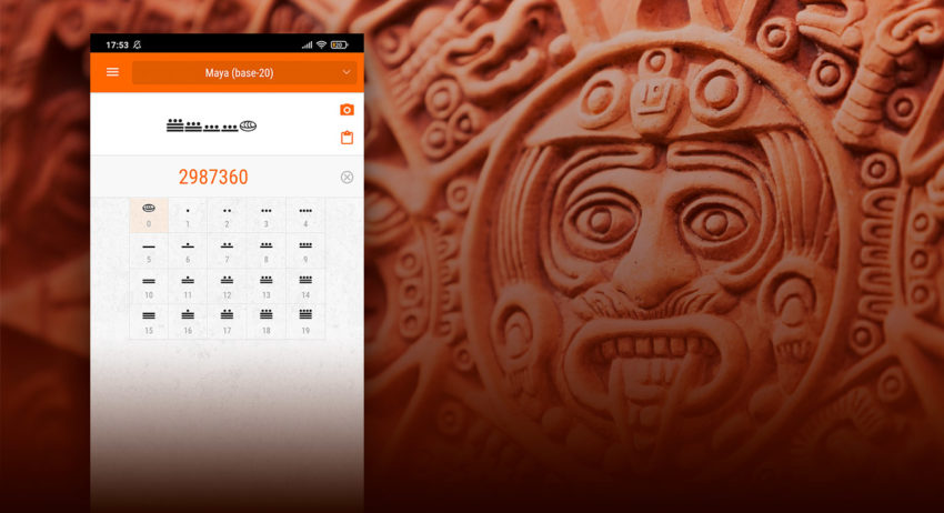 Universal Numbers Converter: version 1.0.25 – Mayan number system