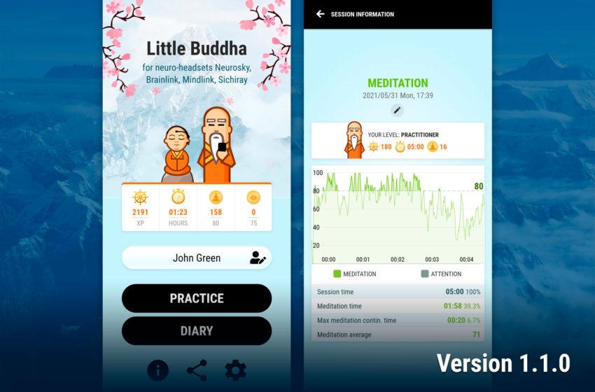 Little Buddha: version 1.1.0 – new design and achievements
